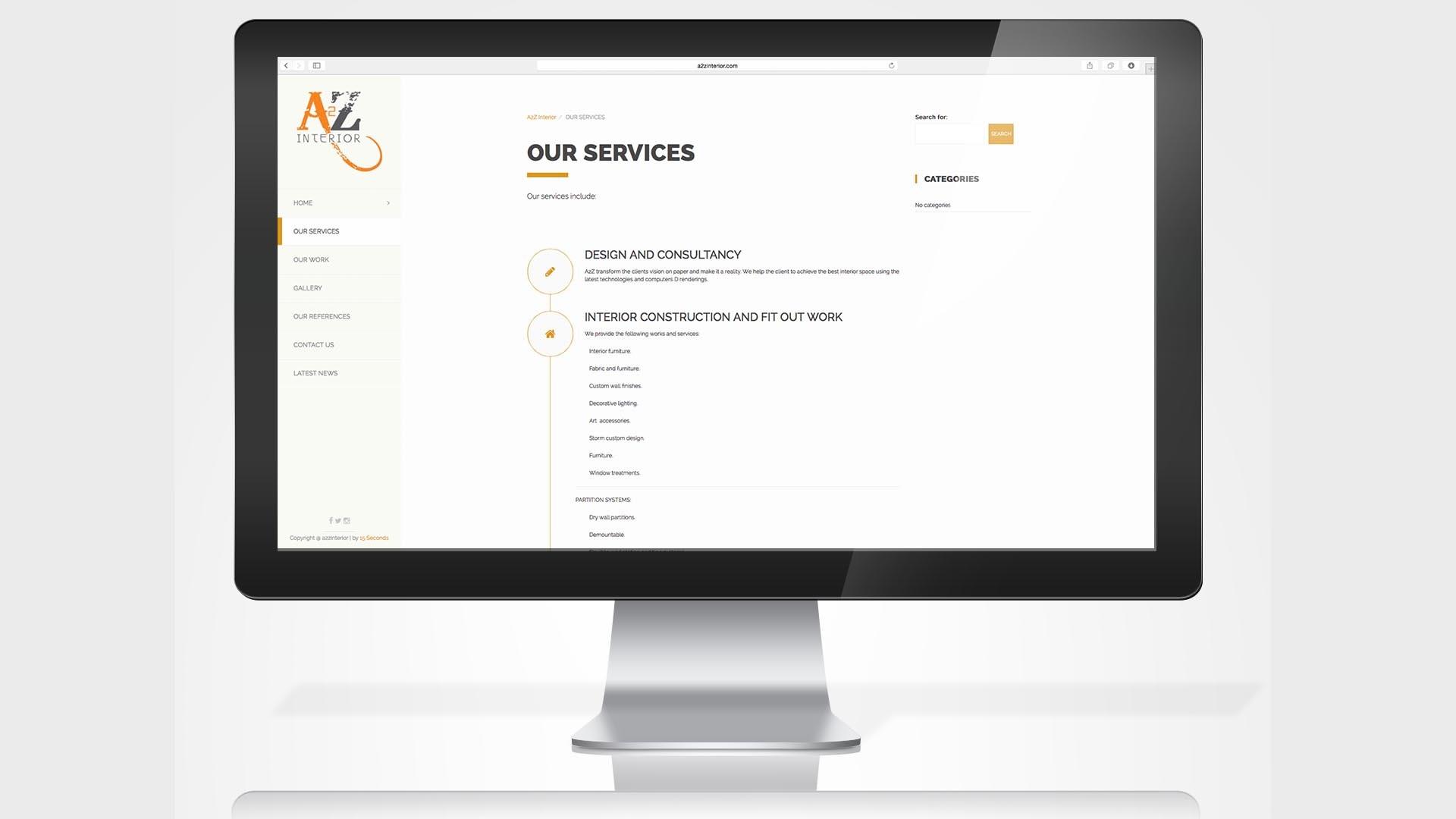 a2z-interiors-website-services