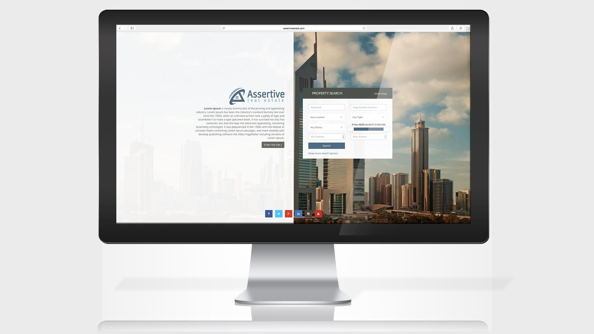 assertive-estate-website-intro-page