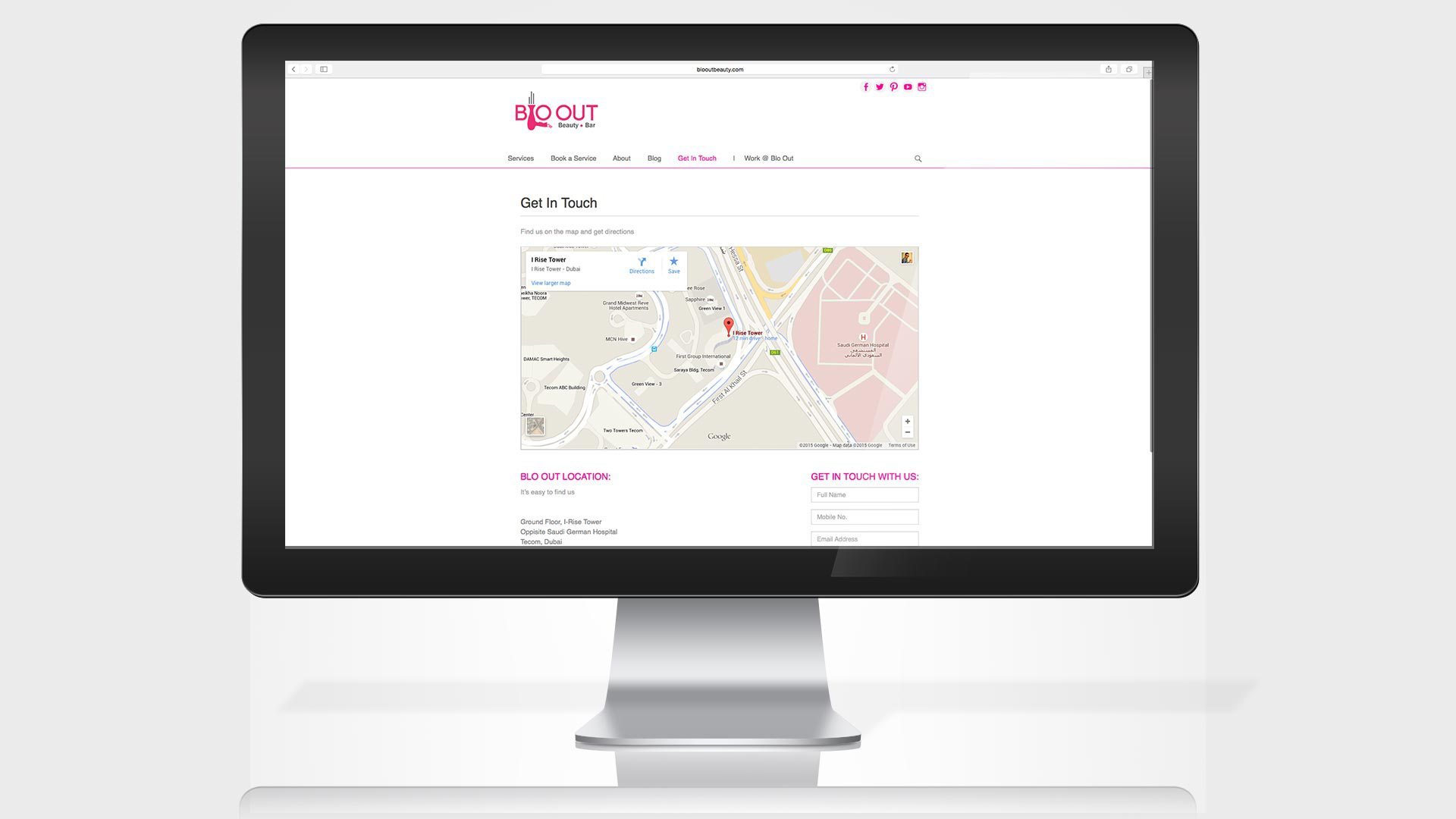 blo-out-beauty-bar-website-get-in-touch-page