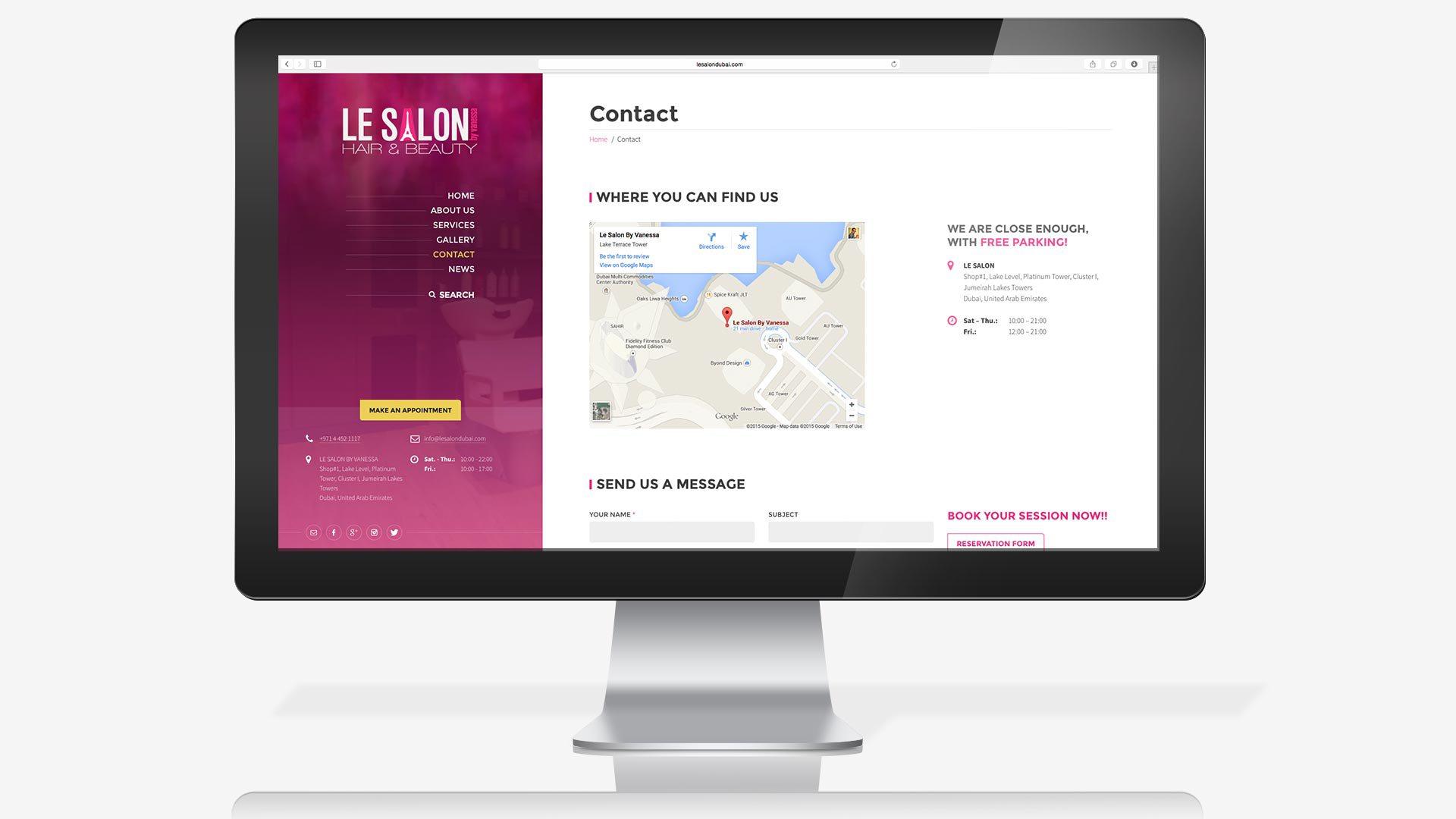 le-salon-website-contact