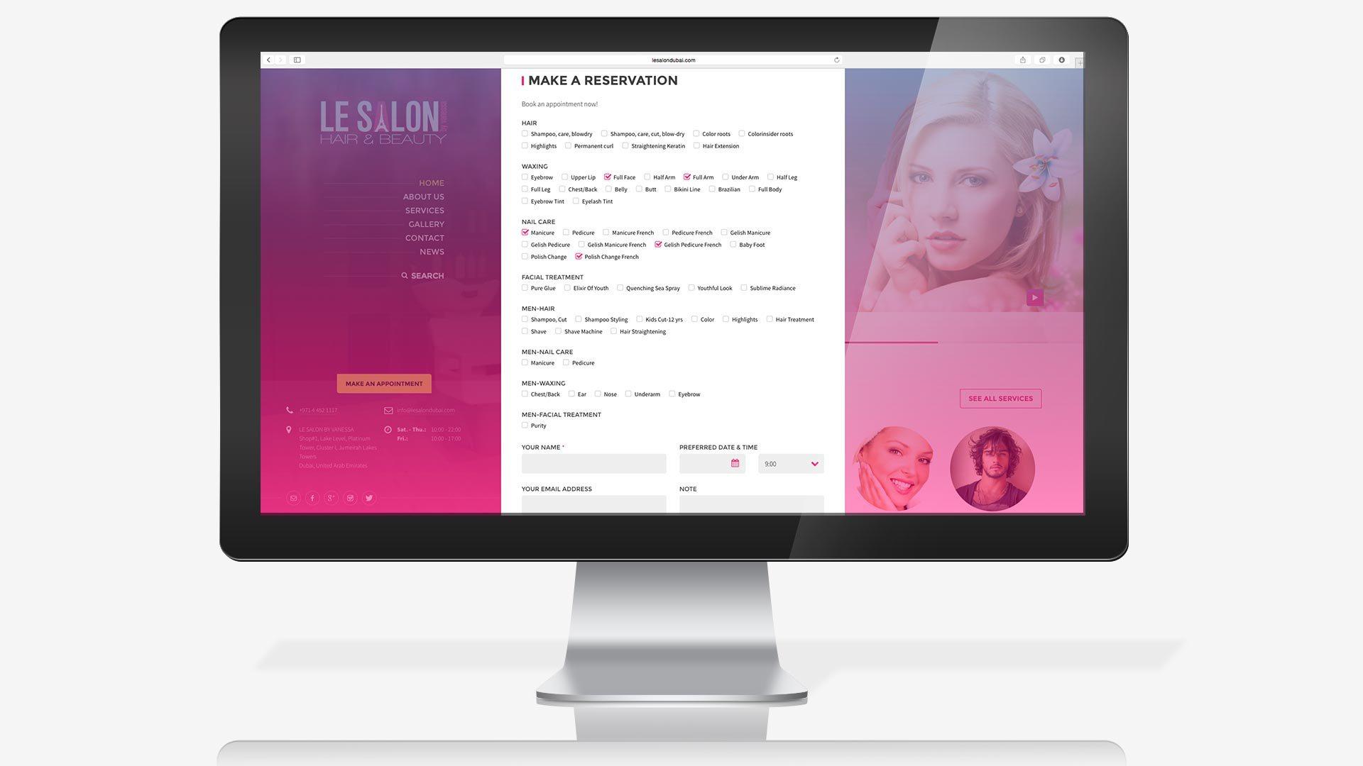 le-salon-website-reservation