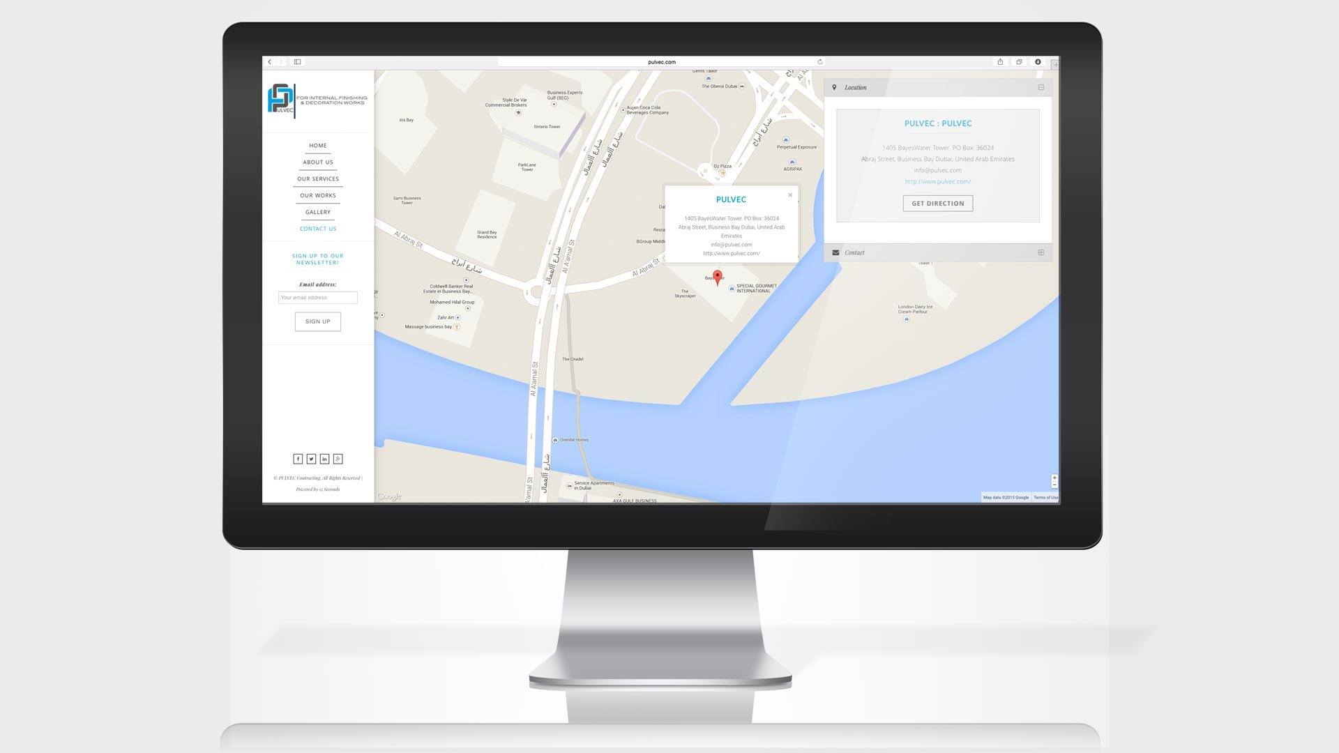 pulvec-website-contact-us-page